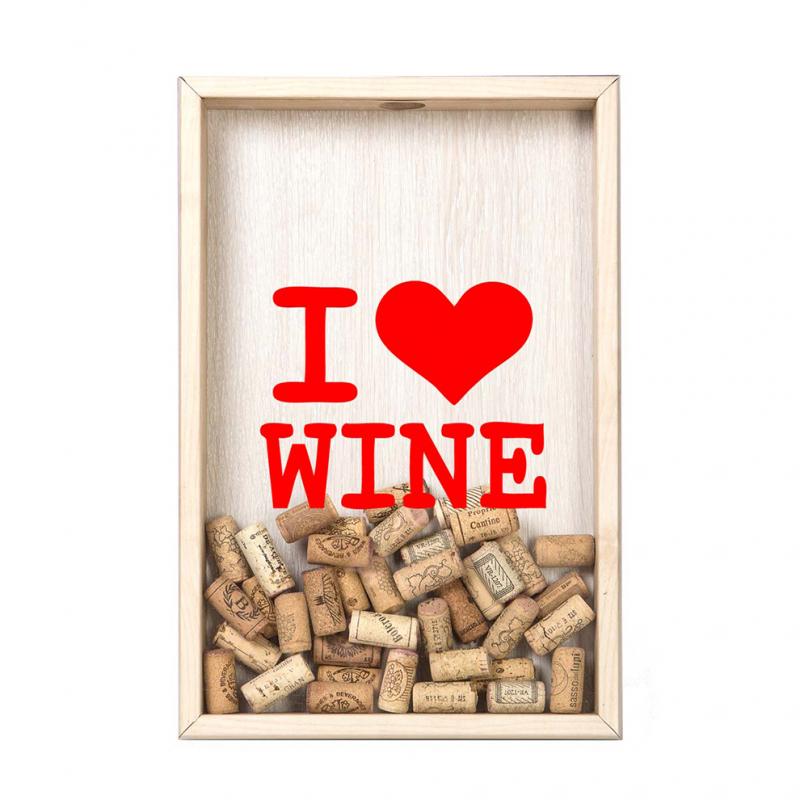 Копилка для винных пробок I Love Wine Дуб